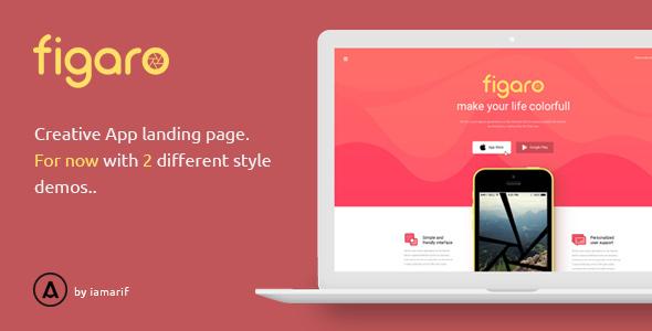 Figaro - App Landing Page