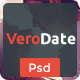 VeroDate - Dating Social Network Website PSD Template