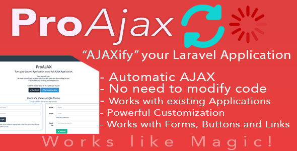 Download ProAjax - Automatically Ajaxify Your Laravel Application nulled download