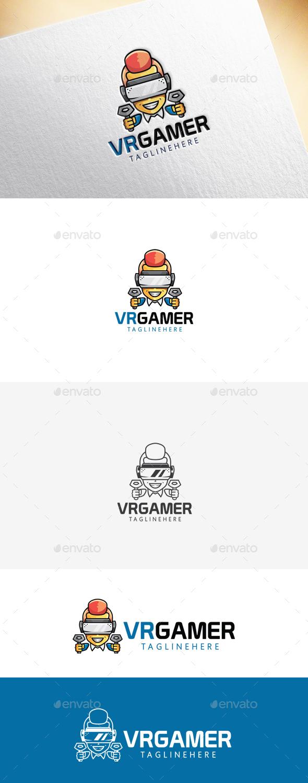 VR Gamer Logo Template