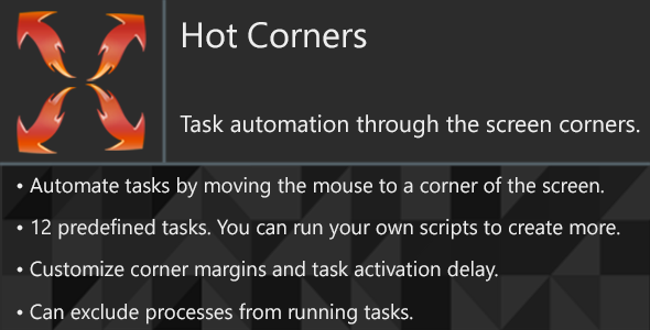 Hot Corners - Automate your daily tasks on Windows - CodeCanyon Item for Sale