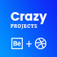 CrazyProjects - Dribbble & Behance projects showcase