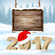 Happy New Year Background With 2017  Vector