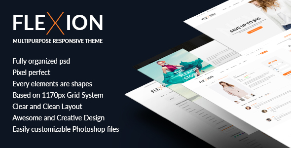 Flexion - PSD Templates For Fashion E-Commerce Store
