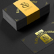 Black Business Cards Mock-up