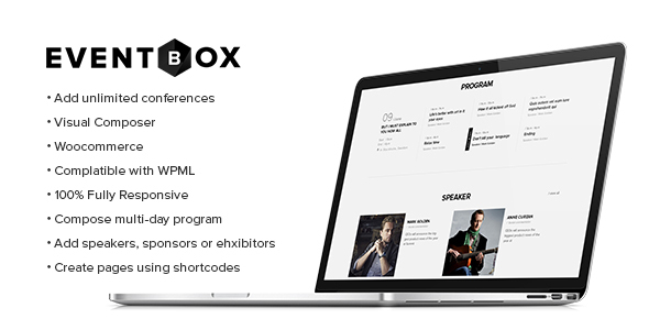 Фото Wordpress Template  Eventbox - Club/Workshop/Party WordPress Theme — 01 preview.  large preview
