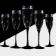 Foer Of-champagne Glasses Vith Alpha Chunnel
