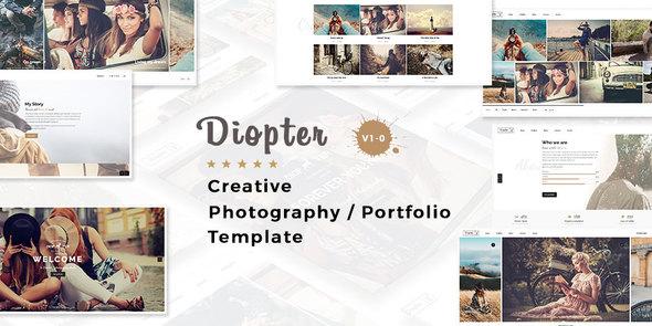 Diopter - Creative Responsive  Photography Portfolio  Template