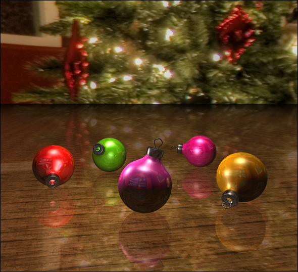 3DOcean Christmas Ornaments 73290