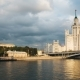 View of Historical Building in Moscow with River Front