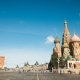 St. Basils Cathedral and Kremlin Tower From Red Square Hyperlapse in Moscow, Russia