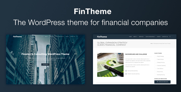 Finance WordPress Theme - For Finance & Consultants