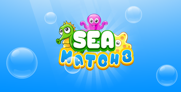 Download Sea match3 - HTML5 game. Construct 2 (.capx) nulled download