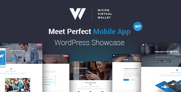 Download Mobile Wallet Application WordPress Theme - Wicon nulled download
