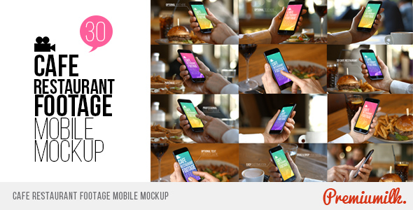 VideoHive Cafe Restaurant Footage Mobile Mockup 19265104