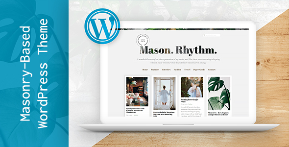 Download Mason Rhythm. WordPress Masonry Theme nulled download