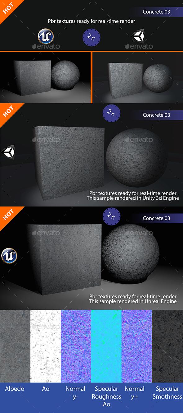 3DOcean PBR Concrete 03 Texture 19265224