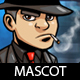Mafia Guy Cartoon Mascot