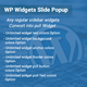 wordpress pullout popup widget