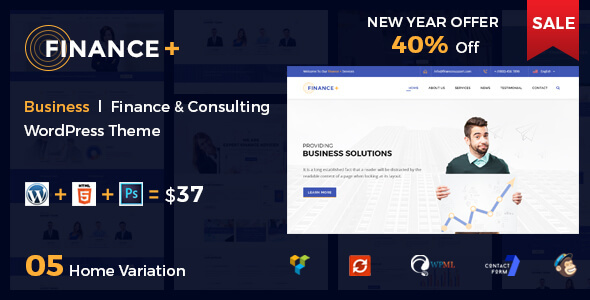 Download Finance + Corporate Business and Consultancy WordPress Theme nulled download