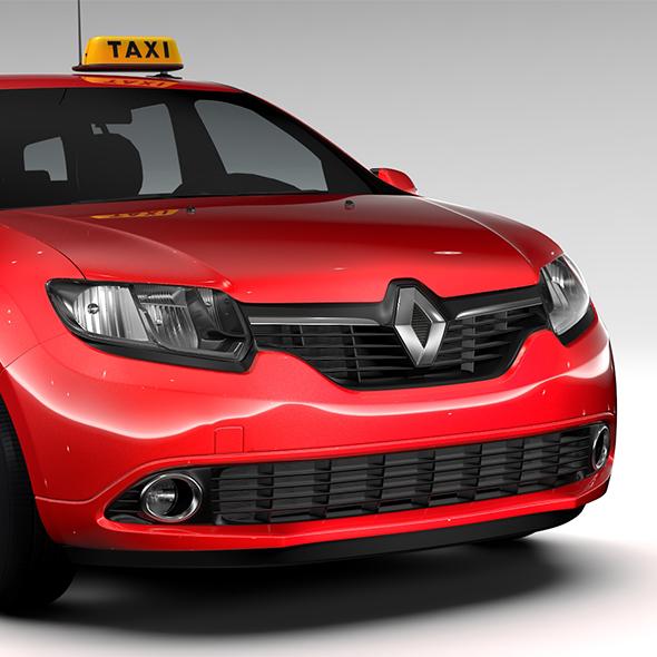 Renault Logan MCV Taxi 2016 - 3DOcean Item for Sale