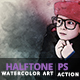 Halftone Watercolor Art | PS Action