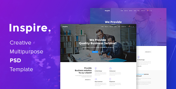 Inspire. - Creative Multipurpose PSD template