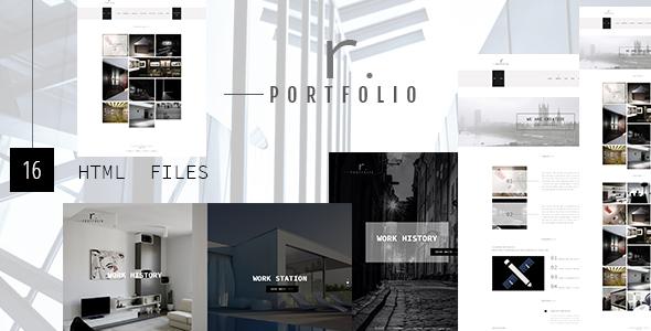 R.PORTFOLIO - Creative Personal/Company Portfolio Template