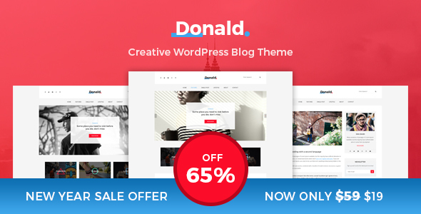 Download Donald - Creative and Clean WordPress Blog Theme nulled download