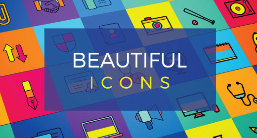 Colorful New Trend Icon Designs
