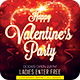 Happy Valentines Party Flyer