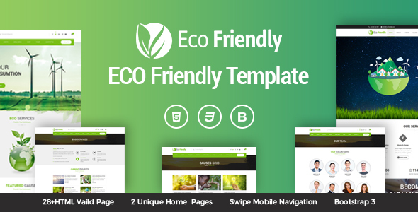 Image of Eco Friendly Environmental Ecology Template