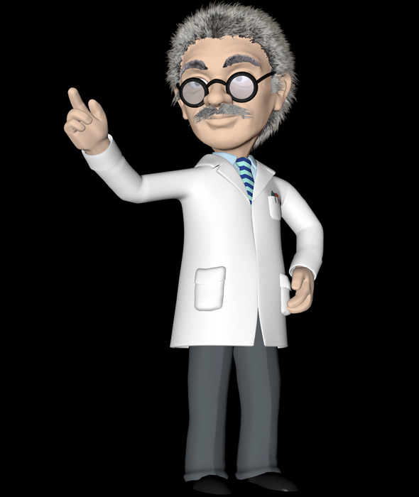 Cartoon Professor - 3DOcean Item for Sale