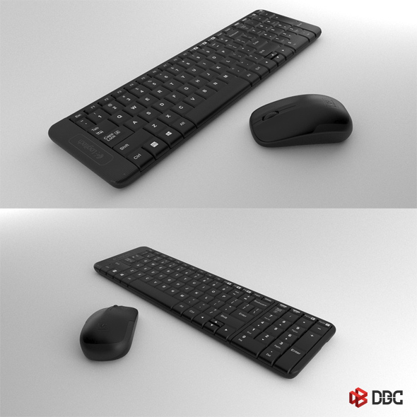 Logitech Keyboard & Mouse  (3ds Max Model) - 3DOcean Item for Sale