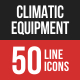 Climatic Equipment Line Filled Icons