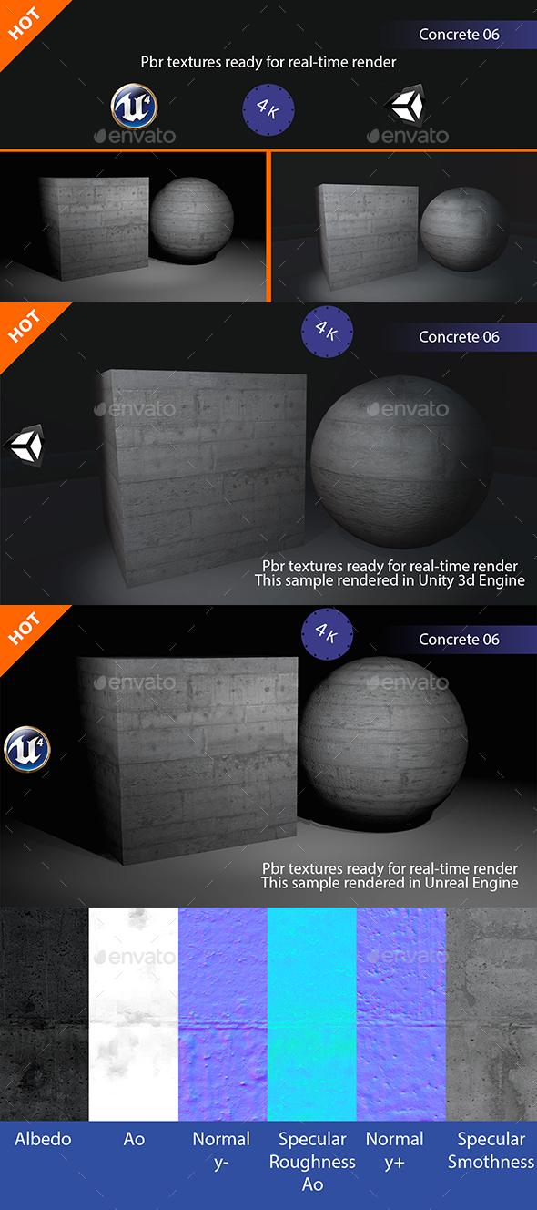 3DOcean PBR Concrete 06 Texture 19267776