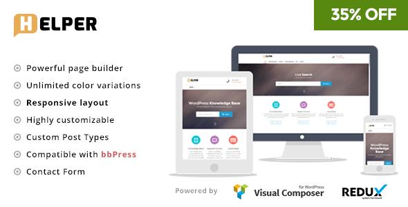 Helper - Knowledge Base / Support WordPress Theme