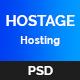 Hostage Hosting PSD Template