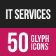 IT Services Glyph Inverted Icons
