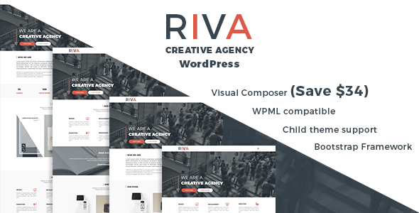 Download Riva - Creative Agency and Portfolio WordPress Theme nulled download