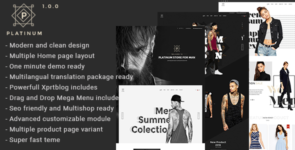 Download Platinum - Fashion & Accessories Prestashop Theme nulled download