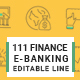 Finance and Banking Line Icons