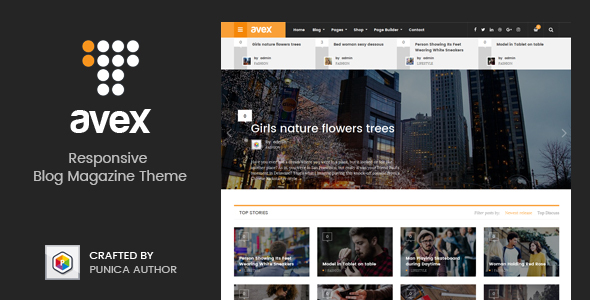 Download Avex - WordPress Magazine Theme nulled download