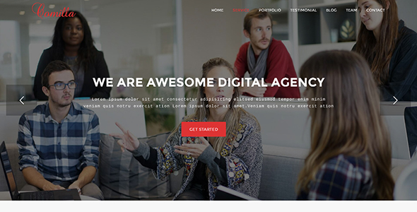 Download Comilla - Digital Agency One Page WordPress Theme nulled download