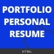 Portfolio / Resume - HTML Template