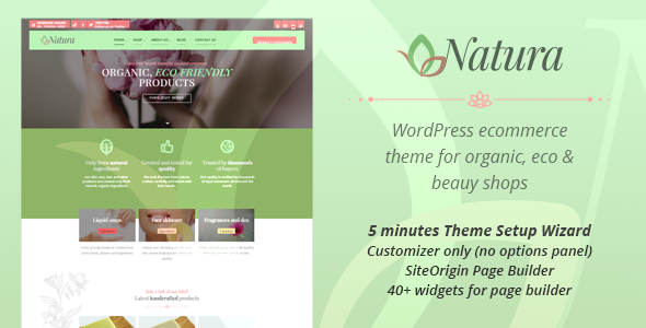 Download Natura - WP Theme for organic, eco and beauty eCommerce enabled websites nulled download