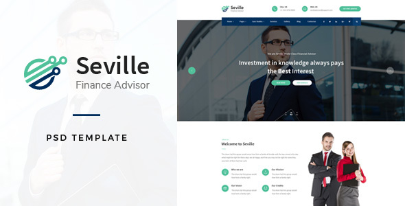 Seville - Financial Advisor PSD Template
