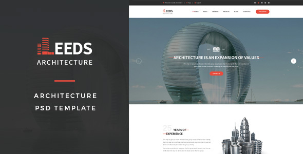 Leeds - Architecture PSD Template