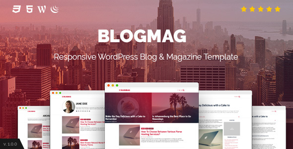 Download BlogMag - Responsive Blog and Magazine WordPress Theme nulled download