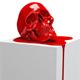 3d model of a human  art skull